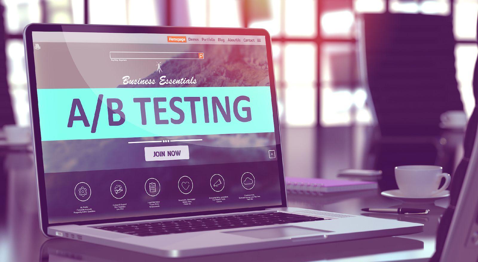 A/B test method for MVP validation