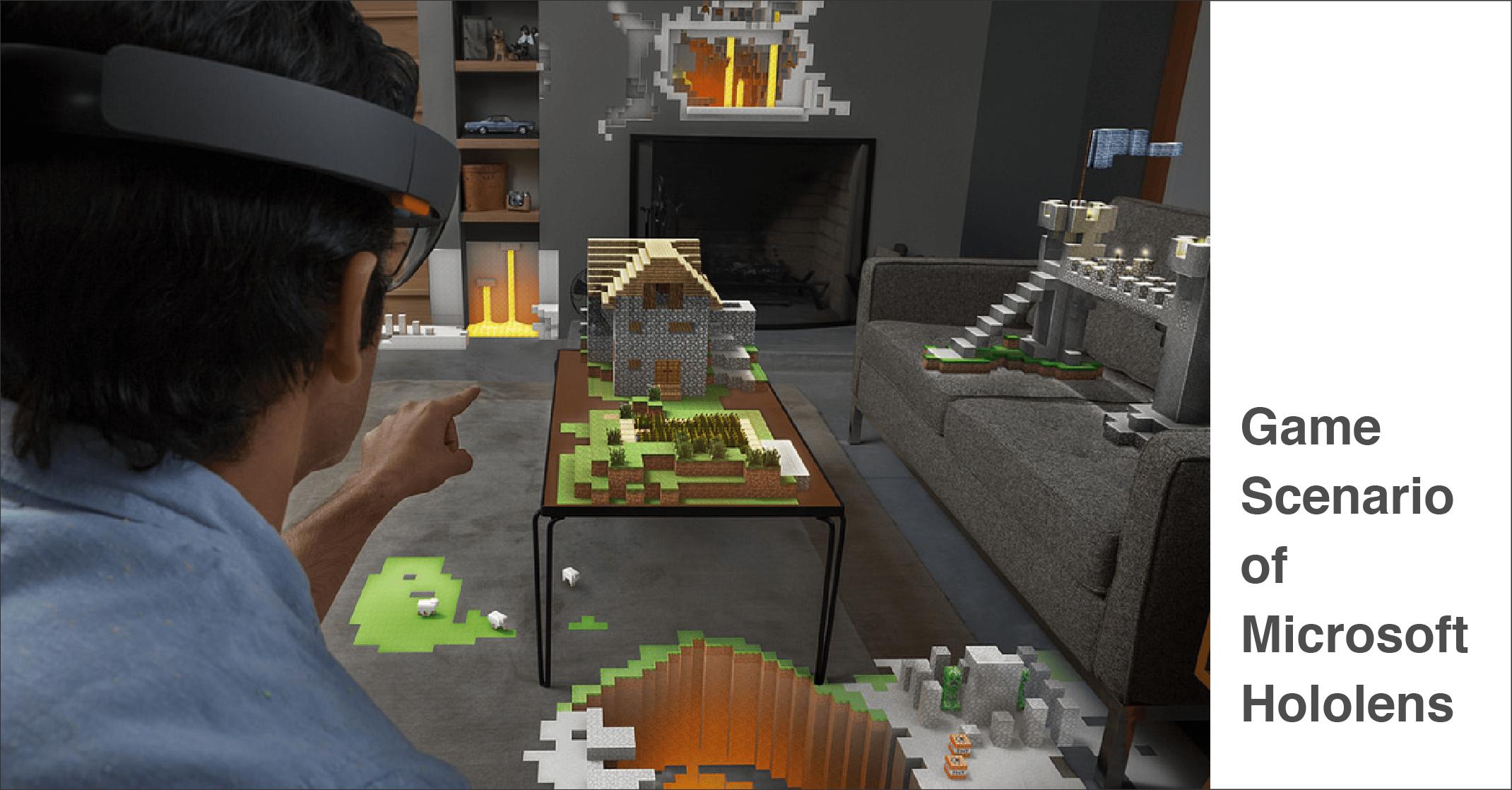 game scenario of Microsoft Hololens